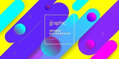 Geometric Shape Composition Background Design vector