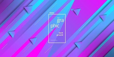 Minimalist Geometric Blue Pink Triangle Shape Color Gradient Background vector