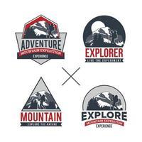 Professional Mountain Logo Collection vector