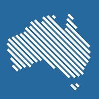Simplicity modern abstract geometry Austalia map. vector