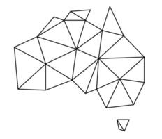 Polygonal vector world map on white background.