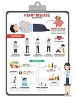 Heart disease infographic vector illustration.