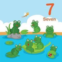 Illustrator of number seven vector