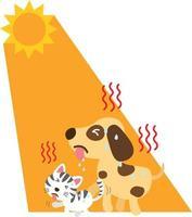 Heat stroke,vector illustration. vector