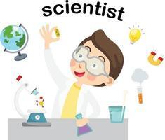 Profession scientist.vector illustration. vector
