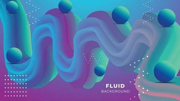 Fluid Wave Abstract Background Design vector