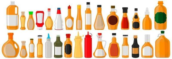 Illustration on theme kit varied glass bottles filled liquid cocktail syrup vector