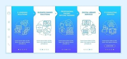 Social unity development projects onboarding vector template. Responsive mobile website with icons. Web page walkthrough 5 step screens. Business owner solution color concept with linear illustrations