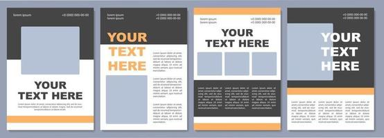 Eye-catching brochure template. University advertising. Flyer, booklet, leaflet print, cover design with copy space. Your text here. Vector layouts for magazines, annual reports, advertising posters