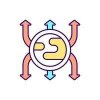 Diabetes cells RGB color icon. Isolated vector illustration. Medical assistance in disease fighting. Medicaments for curing people health simple filled line drawing