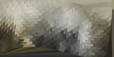 diseño de triángulo de poli vector gris claro.