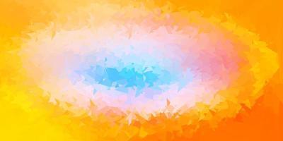 textura de polígono degradado de vector azul claro, amarillo.