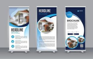 Business Roll Up. Standee Design. Banner Template vector