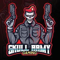 skull army gaming esport logo illustration vector
