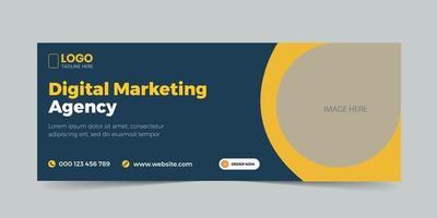 Digital marketing cover web banner template vector