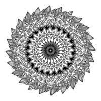 abstract mandala design of spirituality stylized round art vector