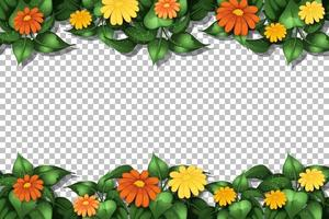 Flower frame template vector