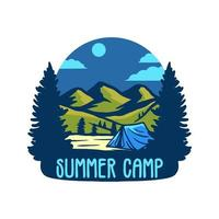 Summer champ badge vector