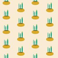 Seamless pattern with a cactus with a flower vector