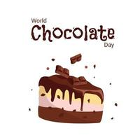 Banner for the celebration of the World Chocolate Day vector