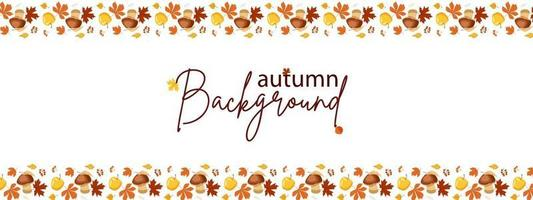 Autumn background made of strips of leaves vector