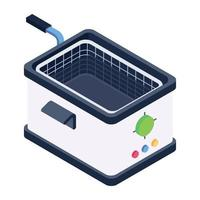 Deep Fryer Kitchenware vector