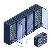 Servers Circuit and Room vector