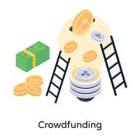 joint  Crowd Funding vector