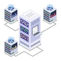 Server Technology  Centers vector