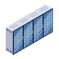 Data Servers Racks vector