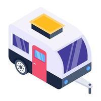 Caravan and Winnebago vector