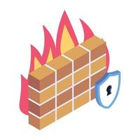 Fire wall Protection vector