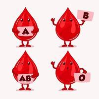 tipo de sangre, concepto de carácter grupal vector