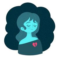 Woman Suffering From Depression vector