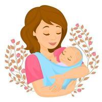 The concept of family, motherhood, pregnancy vector