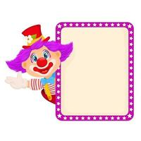 Happy clown waving hand vector