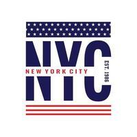 new york city urban clothing streetwear typography design vector