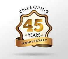 45 years anniversary celebration logotype. anniversaries logo set vector