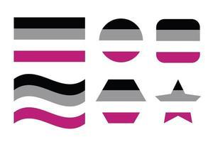 bandera de orgullo asexual bandera de orgullo de identidad sexual vector