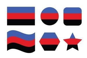 bandera de orgullo poliamoroso bandera de orgullo de identidad sexual vector