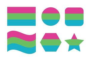 Polysexual pride flag Sexual identity pride flag vector