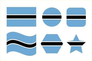 Botswana flag simple illustration for independence day or election vector