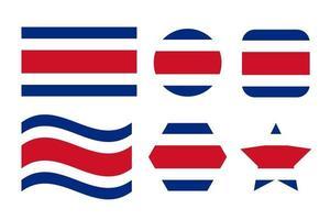 Ilustración simple de la bandera de Costa Rica para el día de la independencia o las elecciones vector