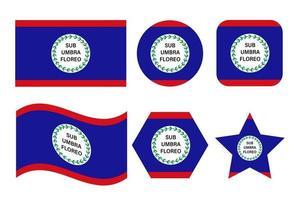 Belize flag simple illustration for independence day or election vector