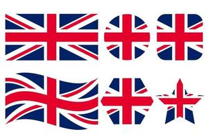 United Kingdom of Great Britain flag simple illustration for independence day or election vector