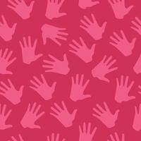 Beautiful Colorful Hand Seamless Background Pattern vector