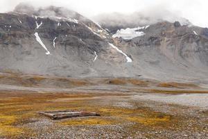 paisaje ártico de svalbard spitsbergen foto