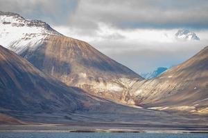 Arctic landscape of Svalbard Spitsbergen photo