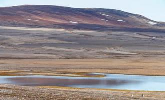 cerca del polo norte se encuentra este hermoso paisaje en svalbard spitsbergen foto