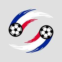 fútbol o fútbol con cola de fuego en la bandera de Francia. vector